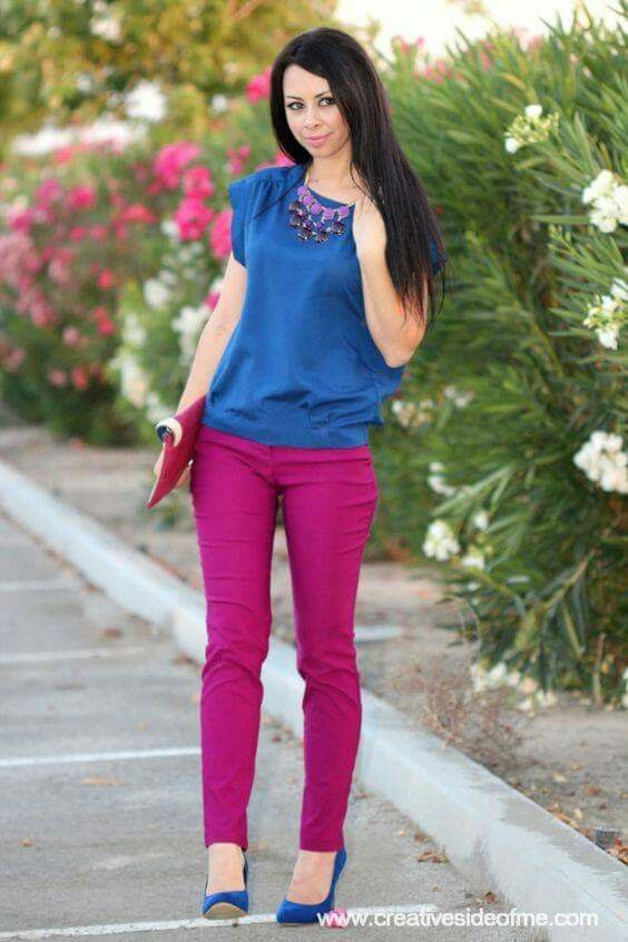 Outfit rosa magenta