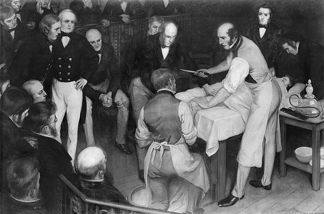 [Robert Liston, the only surgeon in history to have performed an operation with a 300% mortality rate. The legendary case in question went down like this. In addition to amputating the patient's leg at the hip, he accidentally severed his assistant's fingers and managed to cut through an audience member's coat.The patient and assistant died from infection and the man in the audience from a heart attack. Liston had not actually injured him, but the scene caused him to collapse and die of…