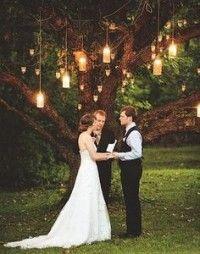 Svadobná výzdoba - lampáše zo zaváraninových pohárov