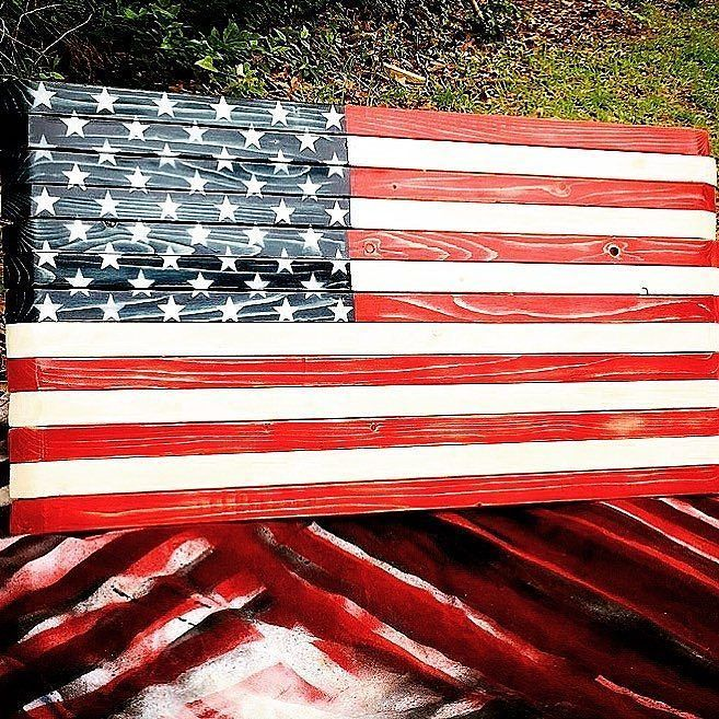 GET ONE NOW  @rugged_roots_woodworks -  Happy Memorial Day to all and let's all remember why we have the freedoms we do and those who sacrificed so much for us to be able to enjoy them. . . . . .  #memorialday #usa #america #american #fire #firefighter #firefighterowned #military #army #marines #airforce #navy #custom #handmade #flag #rustic #decor #country #sacrifice #honor #wood #wooden #woodworking