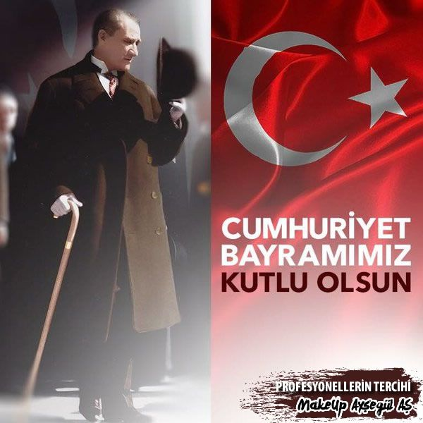 """Cumhuriyetimizin ilanının yeni yılında Büyük Önderimiz Gazi Mustafa Kemal Atatürk""""ü, aziz şehitlerimizi ve gazilerimizi saygı ve rahmetle anıyor, Cumhuriyet Bayramınızı en içten dileklerimle kutluyorum."""