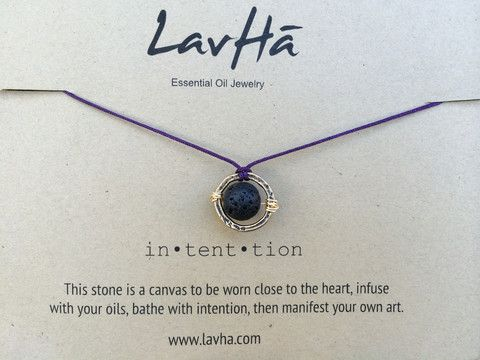 Intention Necklace $14  Add essential oils to the lava charm and create you own aromatherapy diffuser. Lasts an average of 3 days, then reapply.