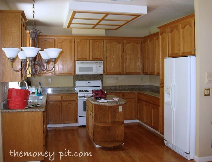 My New Kitchen Island: Staining Oak Cabinets! | 1000 in ...