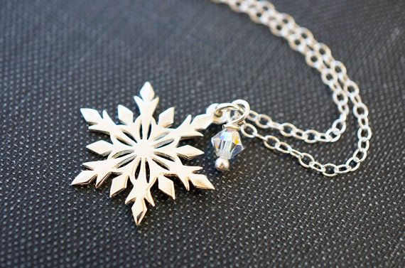 Necklace Snowflake Necklace Frozen Jewelry by storygirlcreations, $28.00 Elsa Snowflake Necklace