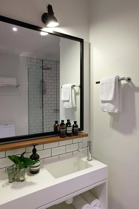 Project Bathroom Mirror Shelf First Floor Bathroom I Like The Shelf Under The Mirror And The All Whi Bathroom Mirror With Shelf Elegant Bathroom Bathroom Model