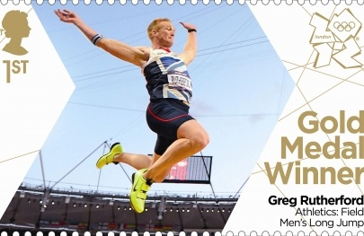 Royal Mail 'next day' Gold Medal stamps for Team GB - Greg Rutherford men's long jump #London2012 #Olympics