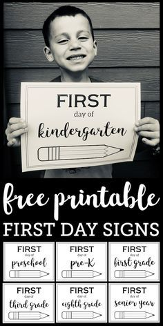 Free Printable First Day of School Sign {Pencil – education