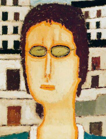 """""""Portret dziewczyny w okularach"""", 1973"""