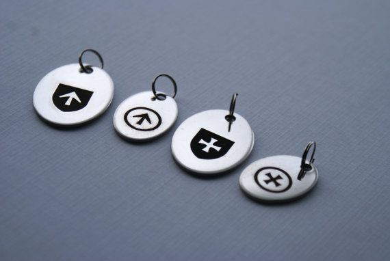 Charm for necklace, keyring or collar. Stainless steel. For Masters and slave in a BDSM relationship.