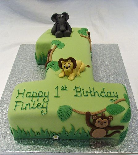 Jungle Themed Number One Cake | www.thecustomcakeshop.co.uk … | Flickr