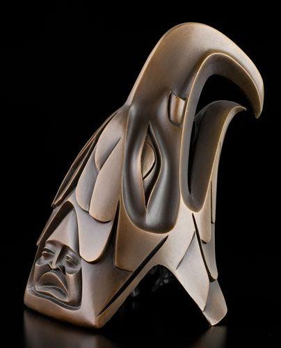 Eagle Bronze by Dempsey Bob, Tahltan, Tlingit artist (X61008) BEAUTIFUL!
