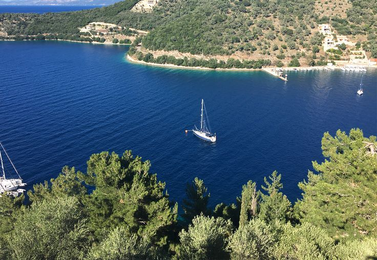 View from center of Spartochori village, Meganisi Island