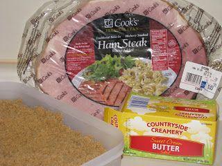 Hot Eats and Cool Reads: Sweet Brown Sugar Ham Steak and Crash Hot Potatoes Recipe