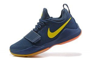 f03145d78f Men s Nike PG1 Paul George EP Navy Blue Orange 878828 410 Basketball Shoes