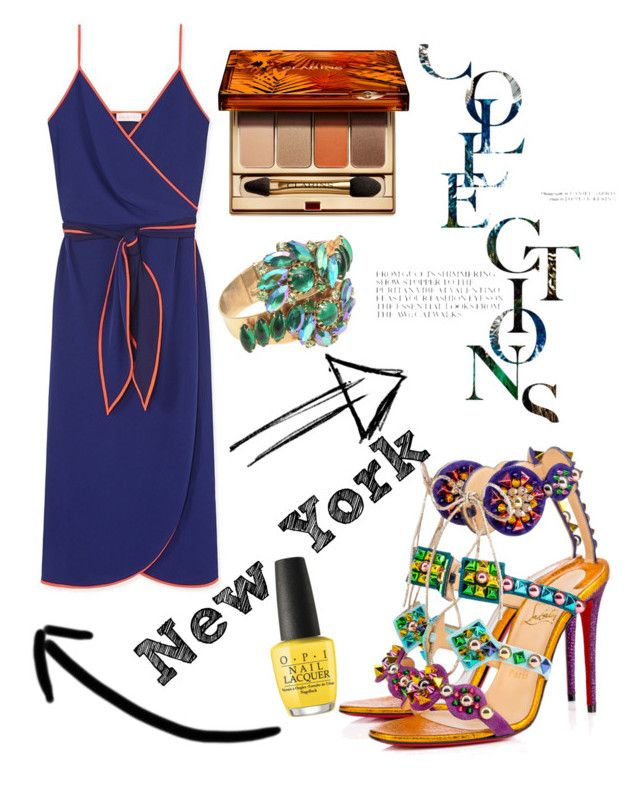 """fashion"" by veronika-grabanova on Polyvore featuring Christian Louboutin, Tory Burch, Clarins and OPI"