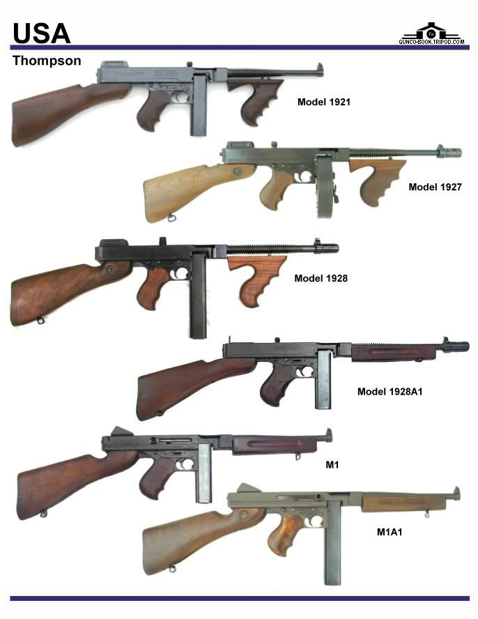 Thompson submachine gun variations