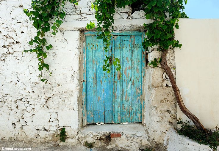 Old door in Paleochora