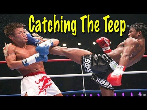 Catching The Teep - Muay Thai Defense Techniques - YouTube