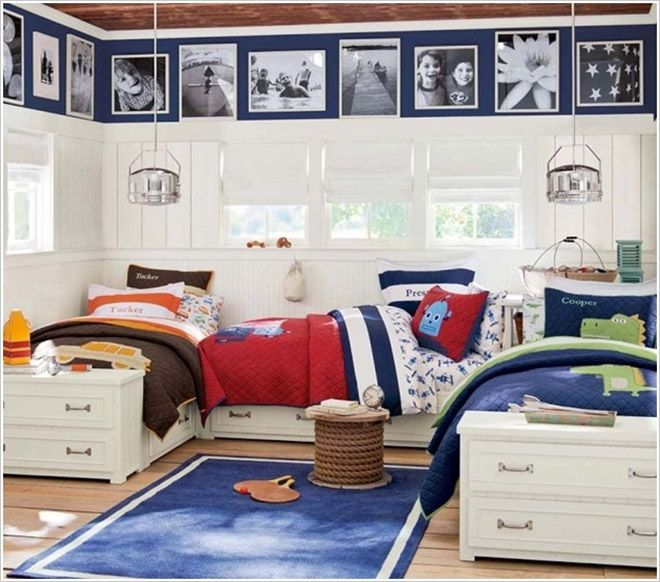 Modern Shared Boy Room: 16 Clever Ways To Fit Three Kids In One Bedroom