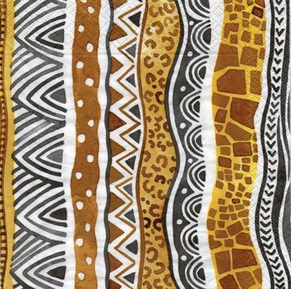 serviettes motifs africains