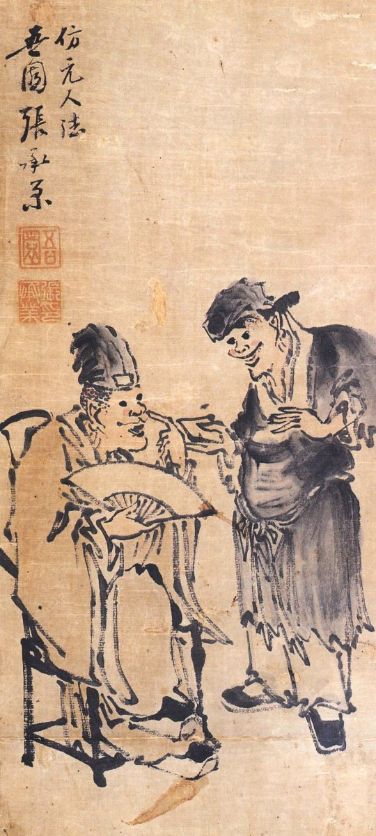 (Korea) Storytelling by Jang Seung-eop (1843-1897). colors on paper. Joseon…