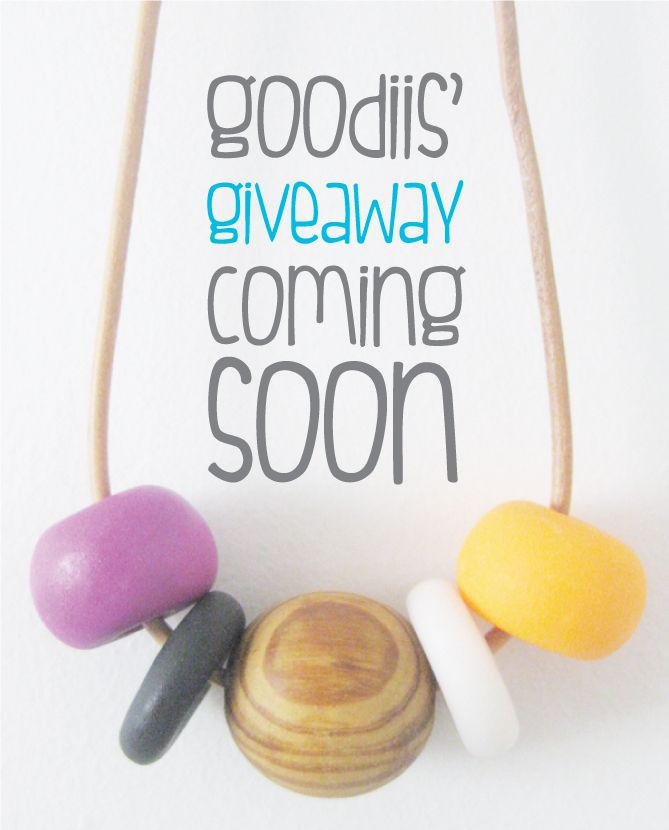 Goodiis' GIVEAWAY coming soon!!! Details to follow. LOVE Goodiis.. then share to spread the word. Thanx Maria x www.goodiis.com