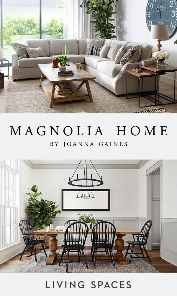 Magnolia Home By Joanna Gaines Furniture Collections Explore Living Room And Dini Farm House Living Room Living Room And Dining Room Design Rustic Living Room