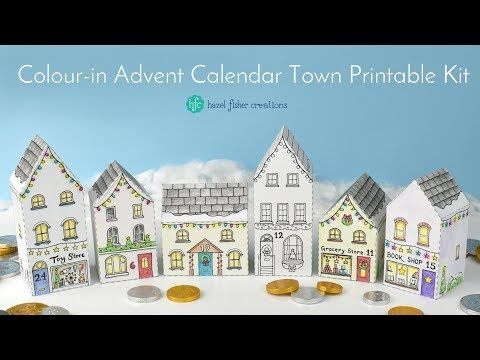 Hazel Fisher Creations: Printable Advent Calendar Town Tutorial (video!) Find out how you can make up this printable kit, with tips and instructions!
