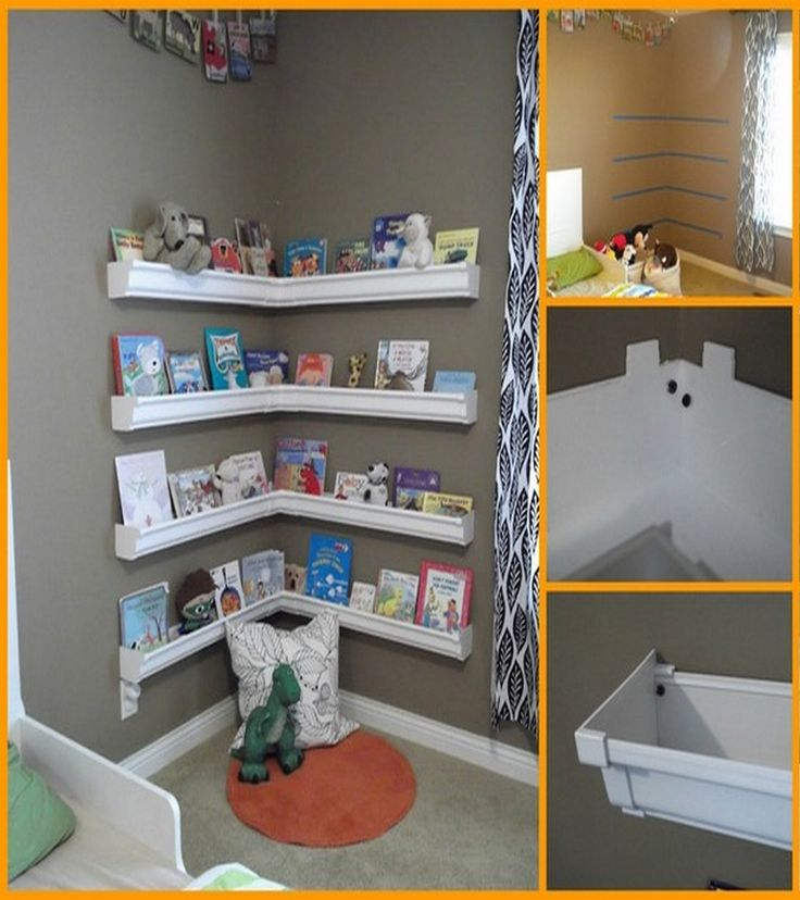 Now isn't this a clever way of making a simple and cheap bookshelf for the kids room.  Want to encourage your kids to read? Then build this beautiful gutter bookshelf!  Read on to learn how it's made: http://theownerbuildernetwork.co/i2tl