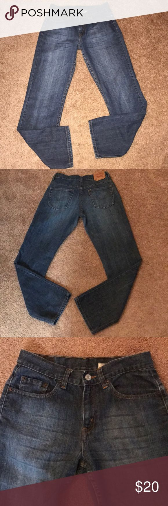 Levi's 505 Woman's Jeans Pre-Owned Levi's 505 Lower Rise Straight Leg Woman's Jeans 100% Cotton Levi's Jeans Straight Leg