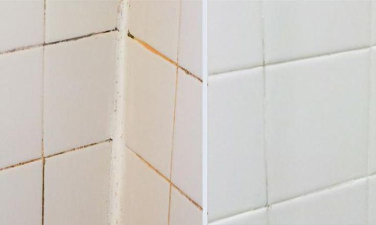 Une amie m'a révélé son secret pour nettoyer le coulis de ma salle de bain... Le résultat est époustouflant!