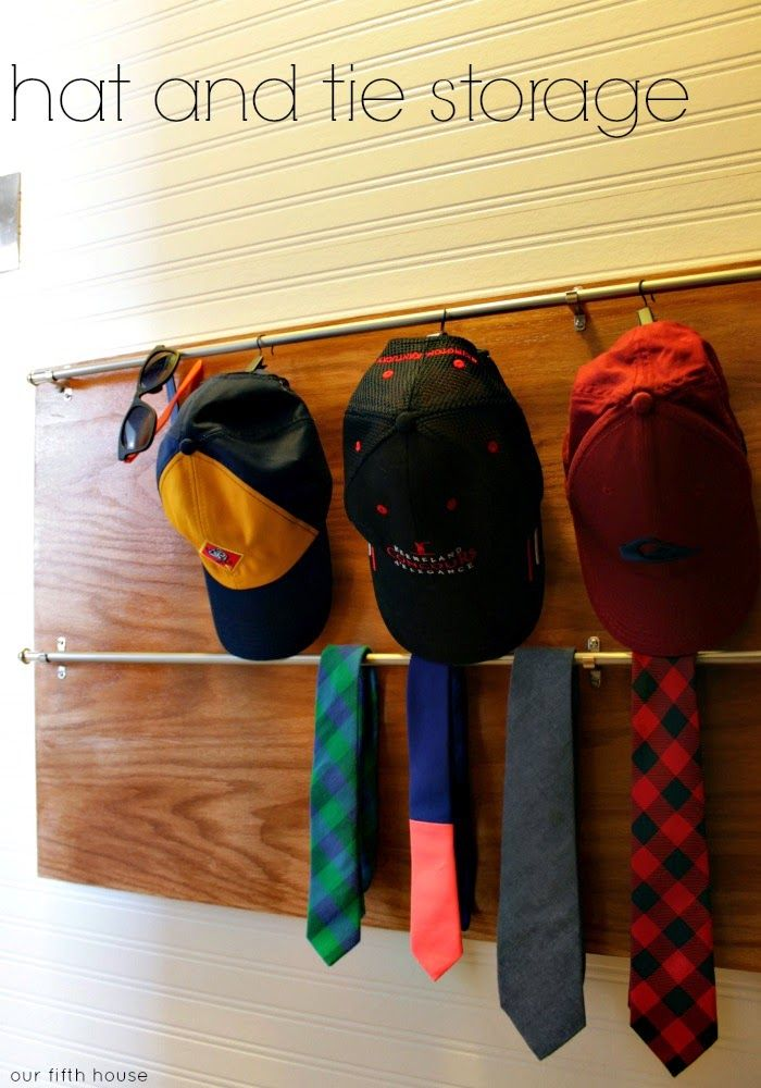 Baseball hat rack for closet