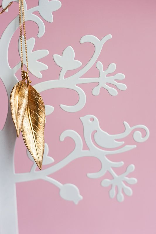 Terre-et-Mer two leaf gold-plated necklace