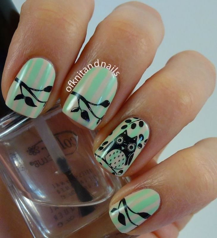 26 Best Owl Nails Images On Pinterest Nail Scissors Nail Art And