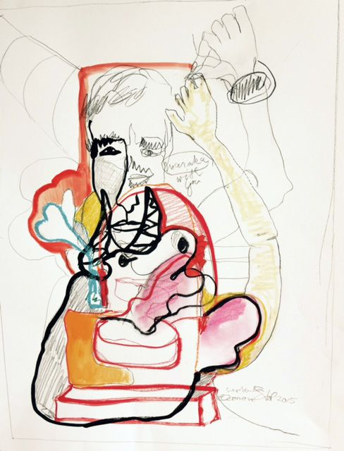 Drawing Conversazione dal cuore III, 50x65cm, euro 600,-