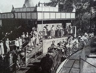 Taronga Zoo and the mini train, from an old guidebook.