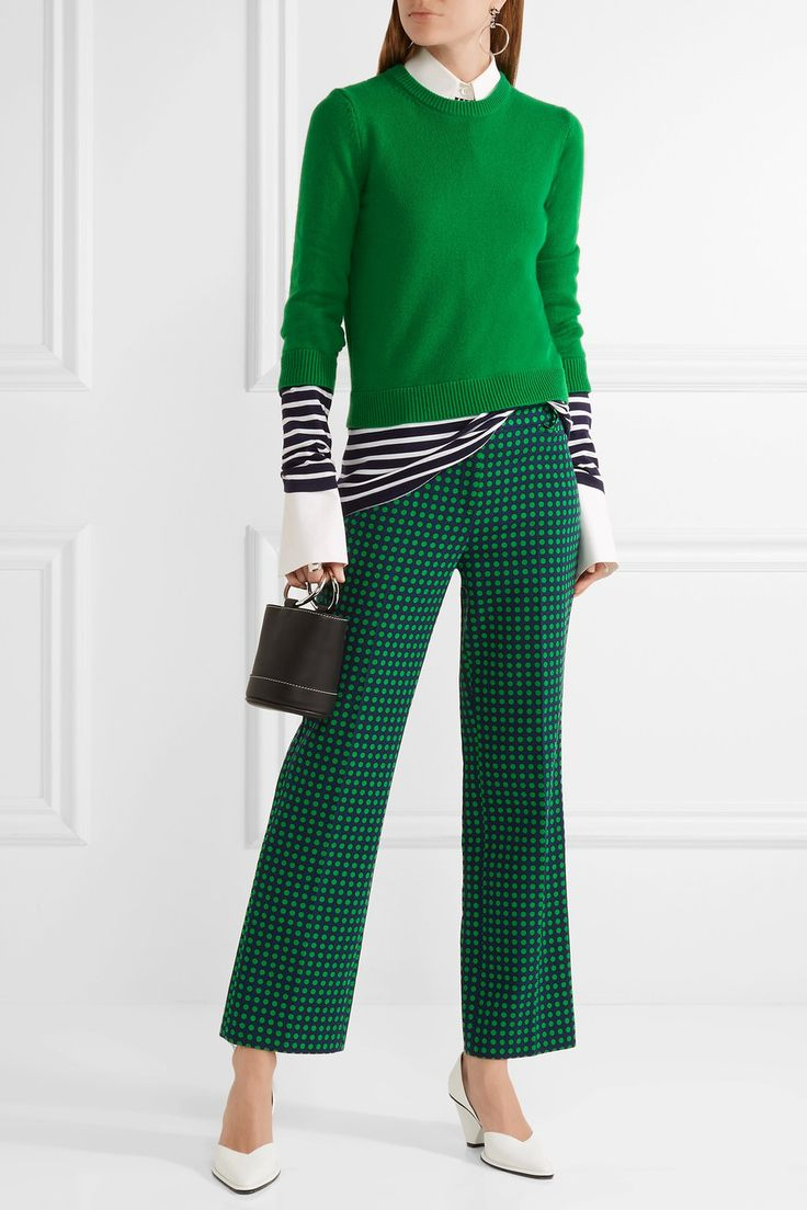 Michael Kors Collection   Polka-dot stretch-wool straight-leg pants   NET-A-PORTER.COM