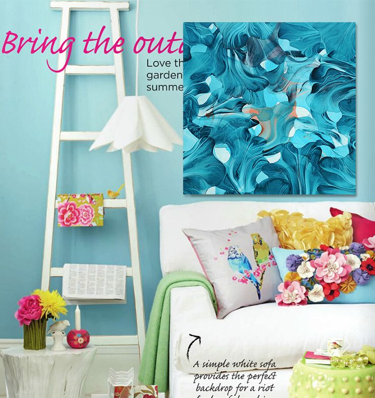 Find More Painting & Calligraphy Information about Mediterranean style blue and white abstract dancing rose petals canvas art Living room  Home Decor free shipping,High Quality home decor fun,China home decoration painting Suppliers, Cheap home decor color matching from WHAT ART on Aliexpress.com