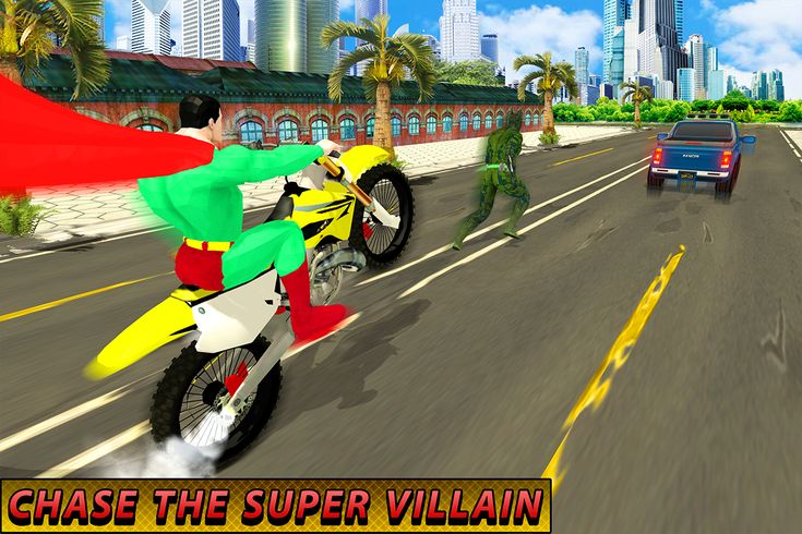 #flying #superhero #city #rescue #mission #action #fight #save #civilians #dangerous #gangster #chase #drive #bike #eyelaser #swim #android #game