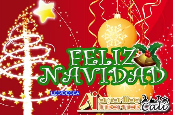 Feliz Navidad les desea en equipo PRO de Amarillas Internet Cali