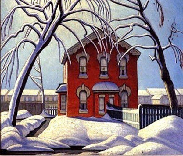 Red House in Winter- Lawren Harris