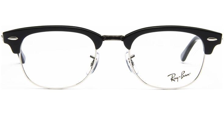 Ray-Ban - Clubmaster RX5154 2000 4921 Shiny Black - von Lensbest