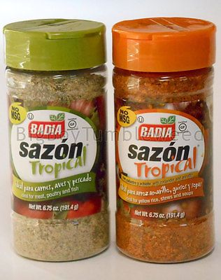 BADIA Sazon Tropical  Seasoning meat soup cooking Fajita Taco meat 6.75oz spice