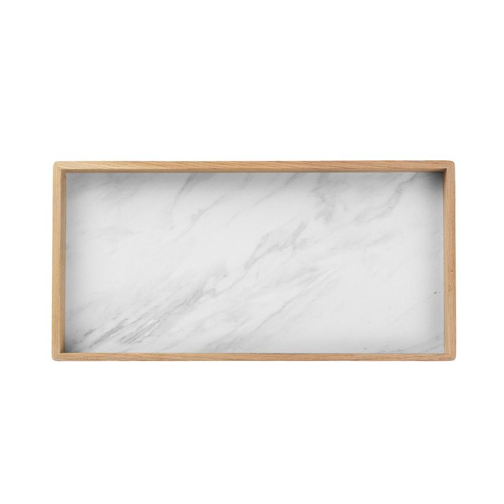 Rectangular Bricka 28x56cm, Vit Marmor 999 kr. - RoyalDesign.se