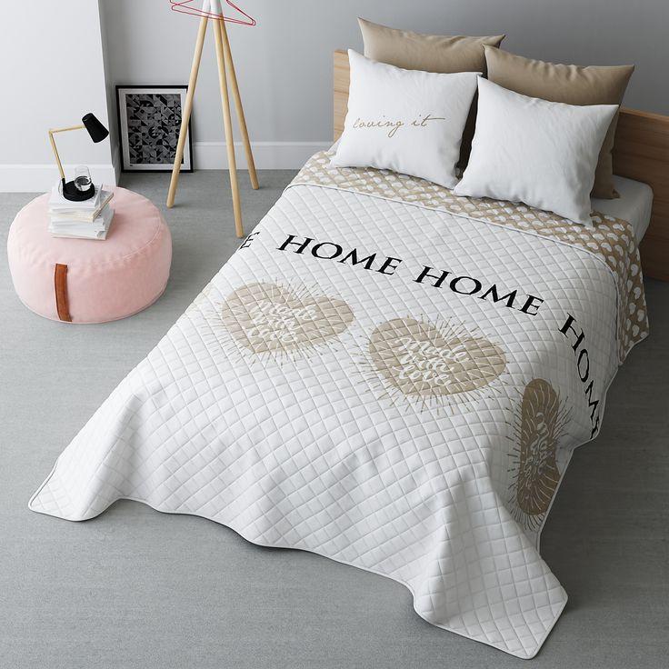 Biała dwustronna narzuta pikowana do sypialni