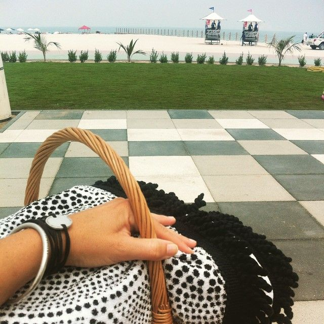 Our jewelry has been on quite a journey. From Laos to New York City to a beach in Dubai.