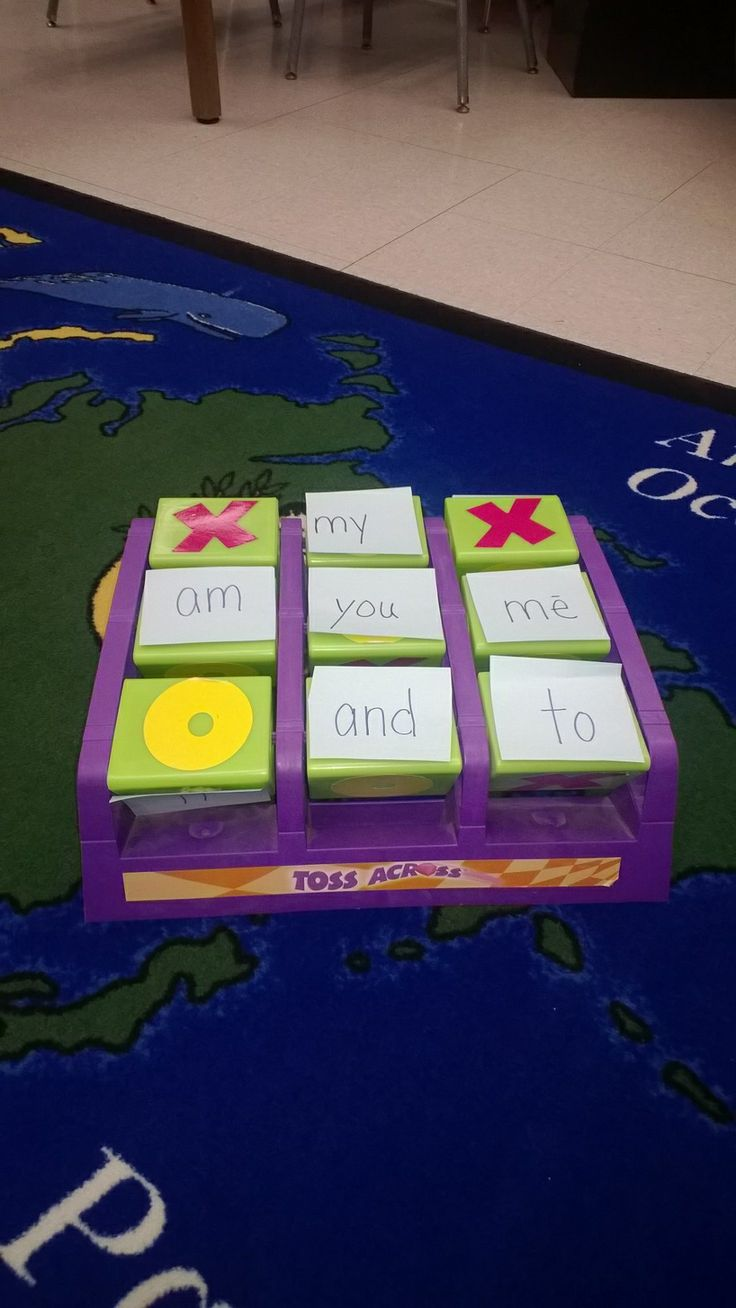 Sight word practice using an old Toss Across game.  Fun!  #sightwords