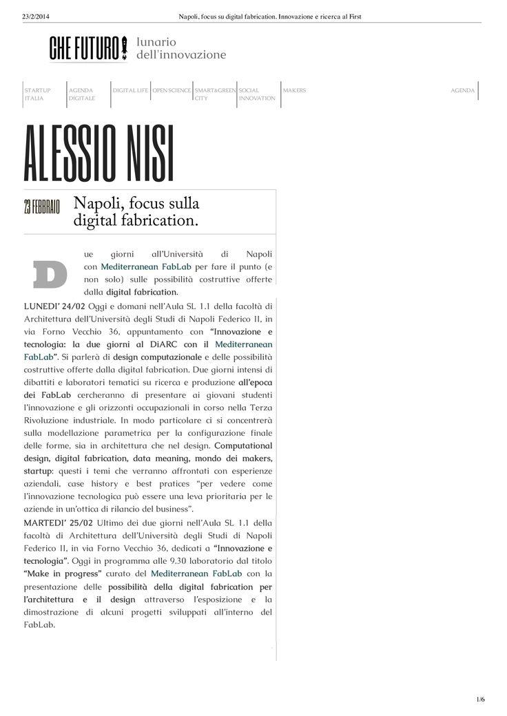 64 best images about rassegna stampa on pinterest italia for Studi di architettura napoli
