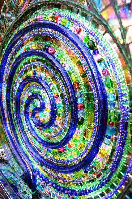 neon light mosaic