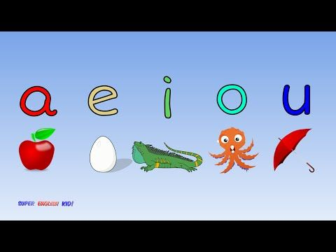 """♫ Fun and Fast Short Vowel Phonics Song """"aeiou"""" with actions. (Grade 1)♫ - YouTube"""